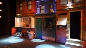 Avenue Q set street - including Kate's Appartment